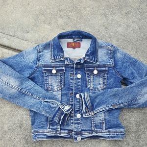 7 for All Man Kind girl's denim jacket